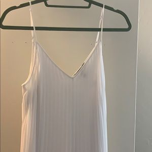 Express pleated white maxi dress